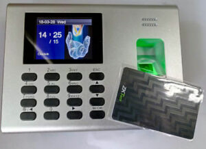 Zkteco Fingerprint Time Clock Access Control Built In Battery With Em Id Card