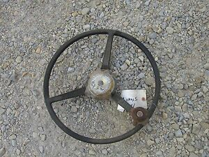 Farmall 1256 Tractor Ih 3 Spoke Steering Wheel Gold Power Steering Medallion