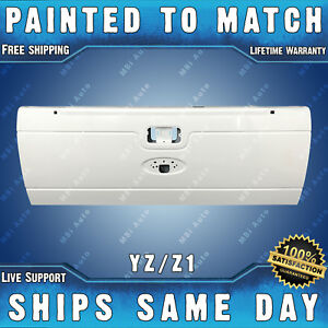 New painted Yz Z1 White Tailgate Shell For 2008 2016 Ford F250 F350 Super Duty