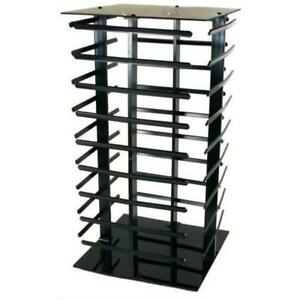 Revolving Rotating Earring Counter Display Stand 4 Sided Black