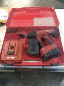 Hilti Uh 240a Cordless Hammer Drill W case Good Condition W 2 Working Batteries