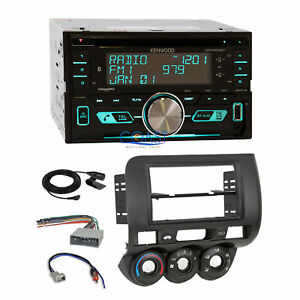 Kenwood Usb Sirius Bluetooth 2din Stereo Dash Kit Harness For 2007 08 Honda Fit