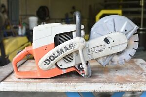Dolmar Pc 6212 Concrete cut off Saw Great Running Condition With Nice Blade 62cc