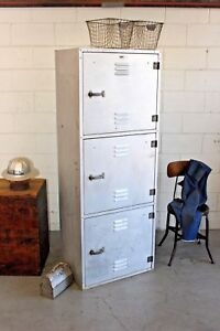 Vintage Industrial Aluminum Navy Locker Drawers Shelves Emeco Era Mid Century