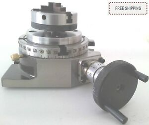 4 100mm Rotary Table 65mm 4 Jaw Self Centering Chuck Back Plate