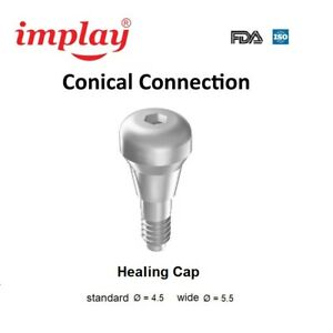 10 Conical Connection Cone11 Healing Cap Titanium For Dental Implant System 98
