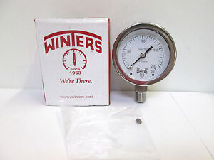 Winters Stabilizr 200 Psi Pressure Gauge 25 In Connection Pfp zr eh a w