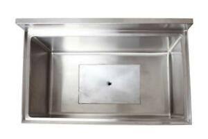 18 X 24 Stainless Steel Ice Chest Bin With Cold Plate