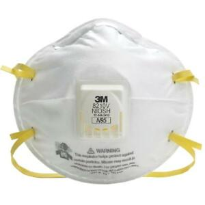 3m 8210v N95 Particulate Respirator Masks W exhalation Valve Various Quantities