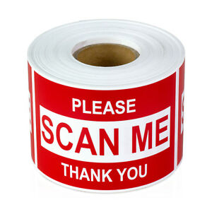Please Scan Me Thank You Stickers Barcode Sign Care Labels 2 X 3 10 Rolls