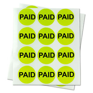 Paid Retail Price Point Sold Stickers Sold Out Store Labels 1 Round 10 Rolls