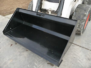 Bobcat Skid Steer Attachment 66 Low Profile Smooth Bucket Free Shipping
