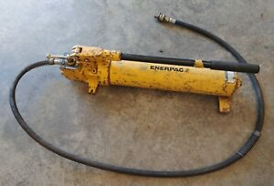 Enerpac P84 Hand Pump 2 Speed 10 000 Psi 134 Cu In With Hose