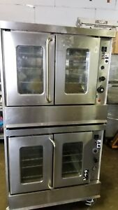 Double Stack Gas Convection Ovens Montague 2 115 Ag Bakers Depth