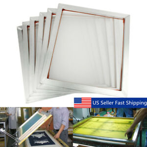 6pcs 20 x18 Screen Frame With 110 Mesh Silk Screen Printing Aluminum Alloy Us
