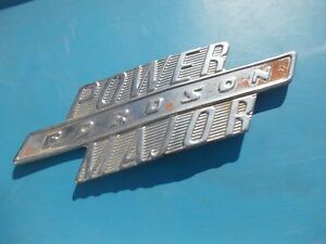 Fordson Major Power Diesel Tractor Original Chrome Hood Side Panel Emblem
