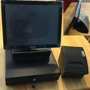 Zeus Pos System Restaurant Retail Fast Food New 15 Touch Screen Point Of Sale