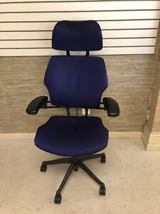 Purple Humanscale Freedom Task Chair With Headrest