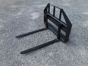 Skid Steer Compact Tractor Loader 42 Pallet Forks Attachment Ship 149