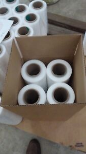 18 X 1500 X 60 Gauge Stretch Shrink Wrap 4 Rolls Hand Plastic Wrapping Pallet