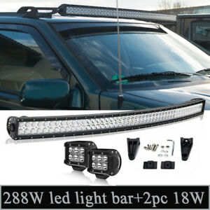 1993 98 Jeep Grand Cherokee Zj Us Off Road Combo 50 Led Light Bar 4 Spot Pods