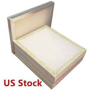 Usa 6 Pcs 18 X 20 aluminum Screen Printing Screens With 110 White Mesh Count