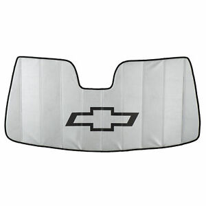 Oem New Windshield Sun Shade Silver W black Bowtie 14 19 Silverado 22987432