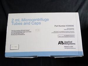 500 Applied Biosystems 2ml Microcentrifuge Tubes And Caps 4305936