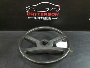 1992 Chevy Pickup 1500 Leather Wrapped Steering Wheel Light Smoke Gray 13i