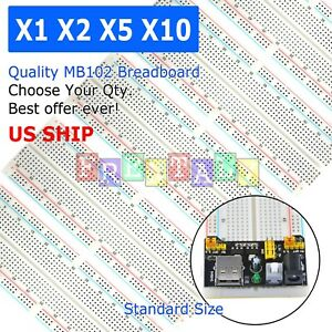 Lot Mb 102 830 Point Prototype Pcb Solderless Breadboard Protoboard Us