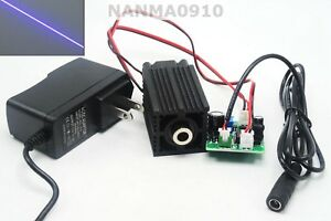200mw 405nm Violet blue Purple Focusable Line Laser Diode Module W 12v Adapter