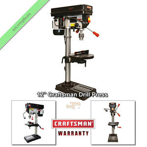 Craftsman Drill Press 12 Laser Led Benchtop 1 2 Hp Bench Top Adjustable Table