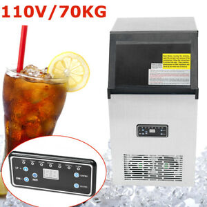 70kg 110v Commercial Ice Cube Freezers Frozen Drink Maker Machine Us Plug 300w