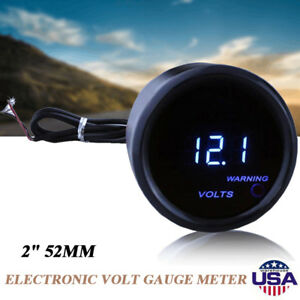 2inch 52mm Universal Car Truck Auto Digital Led Volt Voltage Meter Gauge Af
