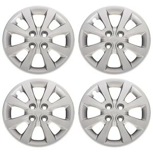 Oem New 15 Wheel Cover Hub Cap Set Of 4 Silver W Kia Logo 12 16 Rio 52960 1w150