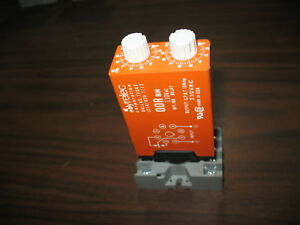 Syrelec Odr Bh 110 Off on Delay Timing Relay With Base 120v Coil