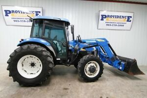 New Holland Td80 Cab Tractor With Loader 72 Hp Ac heat 2 Rear Remotes Radio