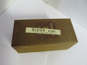 Kingsley Machine Type Set Small Price Card Numerals