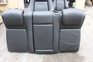 08 11 Saab 93 Rear Passenger Seat Aero Black Leather 08 11 Saab 9 3 Rear Seat