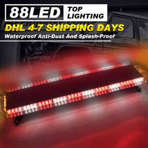 47 88 Led Flashing Car Lighting Bar Emergency Warning Hazard Roof Strobe Lamp