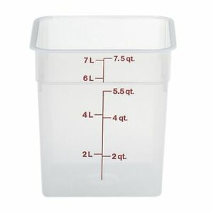 Cambro Food Storage Container Camsquare 8 Qt Polypropylene
