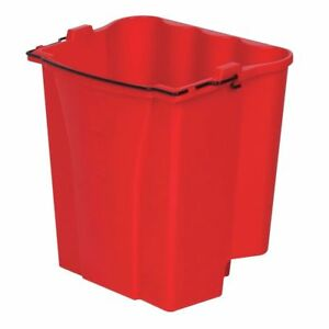 Rubbermaid 9c7400red 18 Qt Red Plastic Dirty Water Bucket For 35 Qt Wavebrake