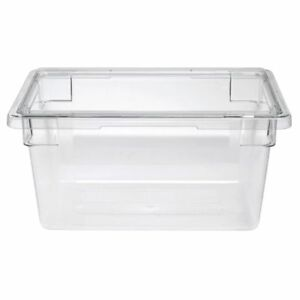 Cambro Food Storage Container 4 3 4 Gal Clear Plastic 18 l X 12 w X 9 d