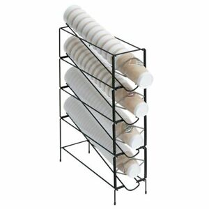 Hubert Cup Dispenser Wire 4 compartment 6 1 4 l X 20 d X 24 3 4 h