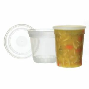 Take Out Soup Container With Lid 30 Oz 4 1 2 dia X 5 1 2 d 240 Per Case