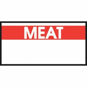 Monarch White Labels With Reversed Red Print meat For 1110 1 line Pricing Gun