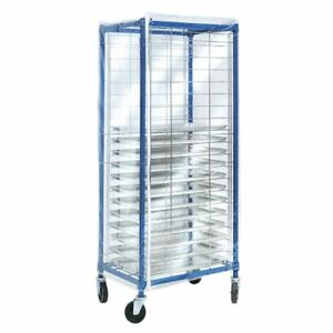 Coverall Worcester Side Load Pan Rack Cover Clear Vinyl 28 l X 23 w X 64 h