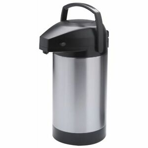 Hubert Airpot Coffee Server With Pump Lid Stainless Steel 3 Liter