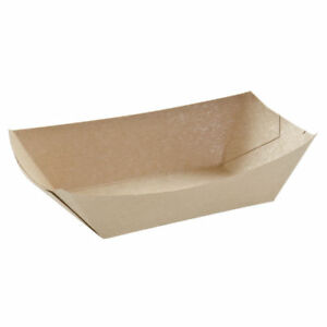 3 Lb Food Trays Kraft Natural Paper 8 l X 6 w X 2 h