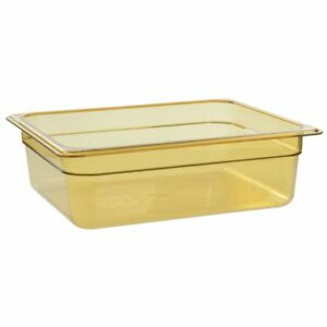 Cambro 24hp150 Camwear H pans 1 2 Size Amber Polysulfone High Heat Food Pan